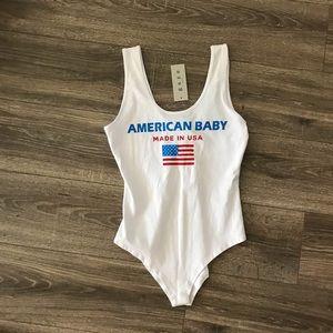 NWT 🇺🇸American baby made inUSA bodysuit medium
